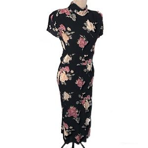 Vintage lightweight roses dress